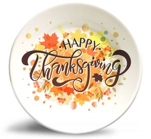 Thanksgiving Splash! plate w/o personalization