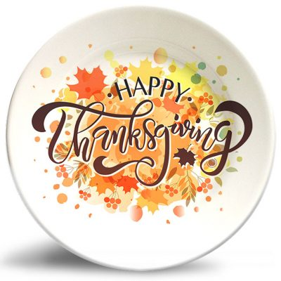 Thanksgiving Splash! plate w/o personalization