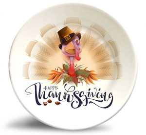 Thanksgiving Turkey plate w/o personalization