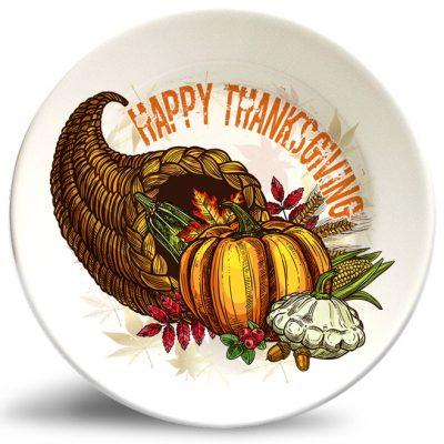 Thanksgiving Cornucopia plate w/o personalization