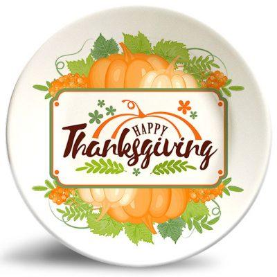 Thanksgiving Pumpkin plate w/o personalization