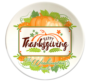 Thanksgiving decorative plates, personalized with your family's name
