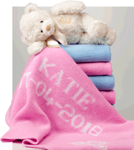 Personalized baby blankets by Randesign