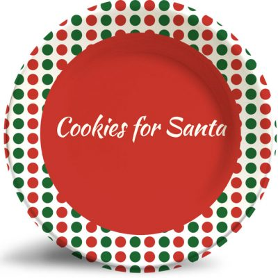 Cookies for Santa holiday plate