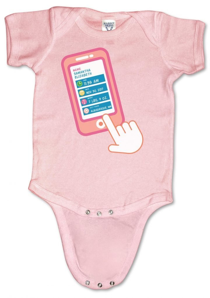 """Personalized, """"Smart Baby"""" onesies (creepers) for boys and girls."""