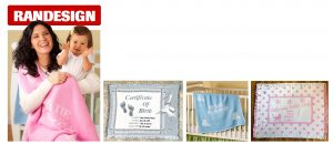 Personalized baby and kids blankets, plates and clothing
