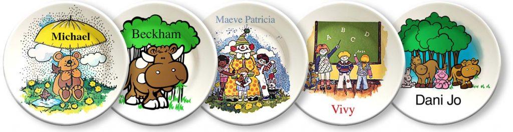 Personalized decorative plates - vintage