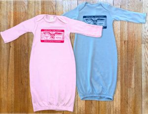 Personalized 'Special Delivery' Infant Sleeper- baby boys and girls.
