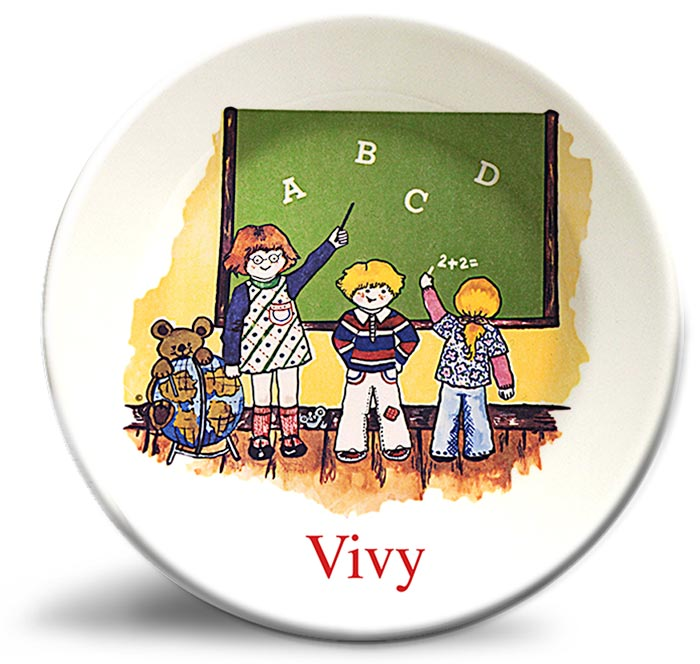 Vintage classroom personalized plate